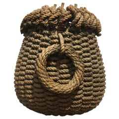 Late 19th Century Folk Art Fisherman's Rope Eel Basket