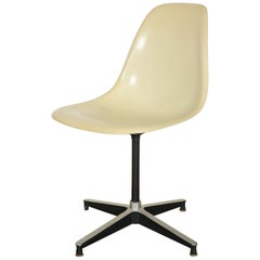 Charles and Ray Eames PSC Swivel Fiberglass Chair with 671 Base