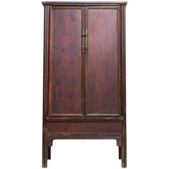 Early 20th Century Sloping-Stile Wood-Hinged Cabinet