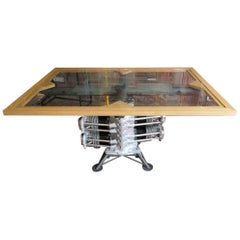 Aircraft Lycoming Engine Dining Room Table