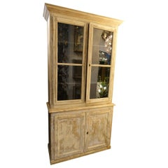French Vitrine Tallboy Cabinet