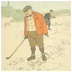 Vintage Golf Print 'Lost Ball'