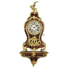 Louis XV Style Boulle Marquetry Clock, circa 1870