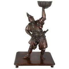 Japanese Bronze Meiji Period Figure