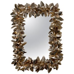 Luxxu McQueen Rectangular Mirror in Brass and Gold Finish