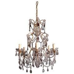 Purple Crystal Chandelier Antique Ceiling Lamp Murano Florentiner Lustre