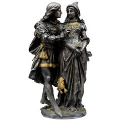 "19th Century ""the Demand"" Bronze by Gregory Cast of Susse Frères in Paris"