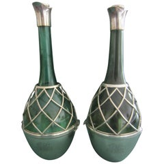 Two Silver Carafes by John Aldwincle & James Slater, 1894