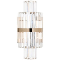 Luxxu Liberty i Wall Light in Crystal Glass with Brass Detail