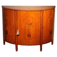 Inlaid Semi-Elliptical Satinwood Commode