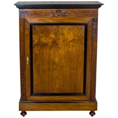 Cabinet/Linen Cabinet Veneered with Walnut, circa 19th Century