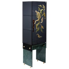 Marble, Glass, Ceramic & Crocodile Big Crocco Cabinet by Egg Designs & Ardmore
