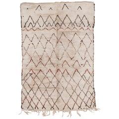 Rare and Early Moroccan Berber Beni Ouarain Rug