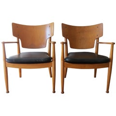 Pair of Danish Chairs by Hvidt and Molgaard for Portex, 1940s