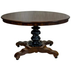 Mahogany, Oval Table, circa the 19th Century
