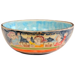 DeSimone Italian Pottery Centerpiece Bowl Ceramic Vintage