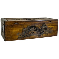 Oriental Wooden Chest, circa Early 20th Century