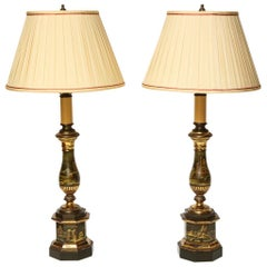 19th Century Tole Lamps
