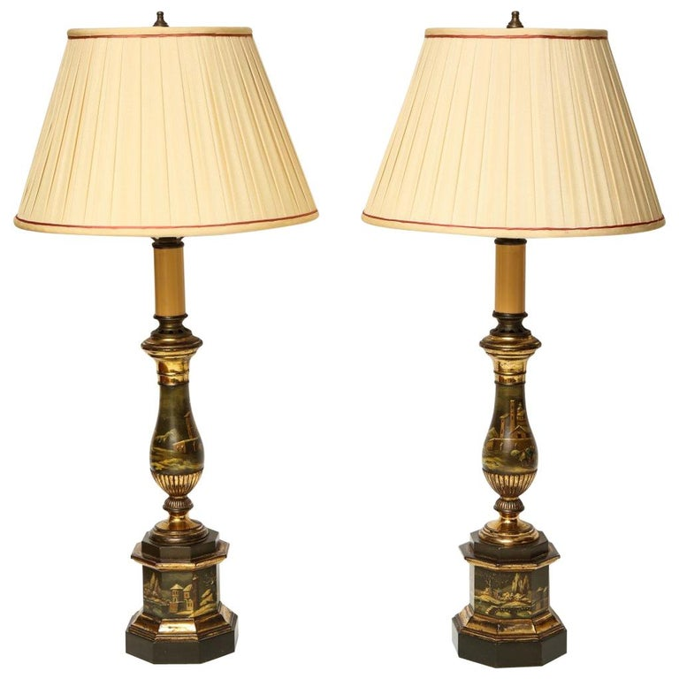 19th Century Tole Lamps For Sale