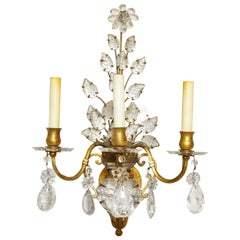 Three-Light Gilt Metal Sconce