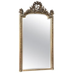 19th Century French Louis XVI Neoclassical Gilded Mirror