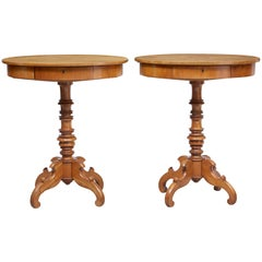 Pair of 19th Century Occasional Elm Side Tables