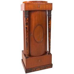 Danish Empire Pedestal Cabinet, circa 1810