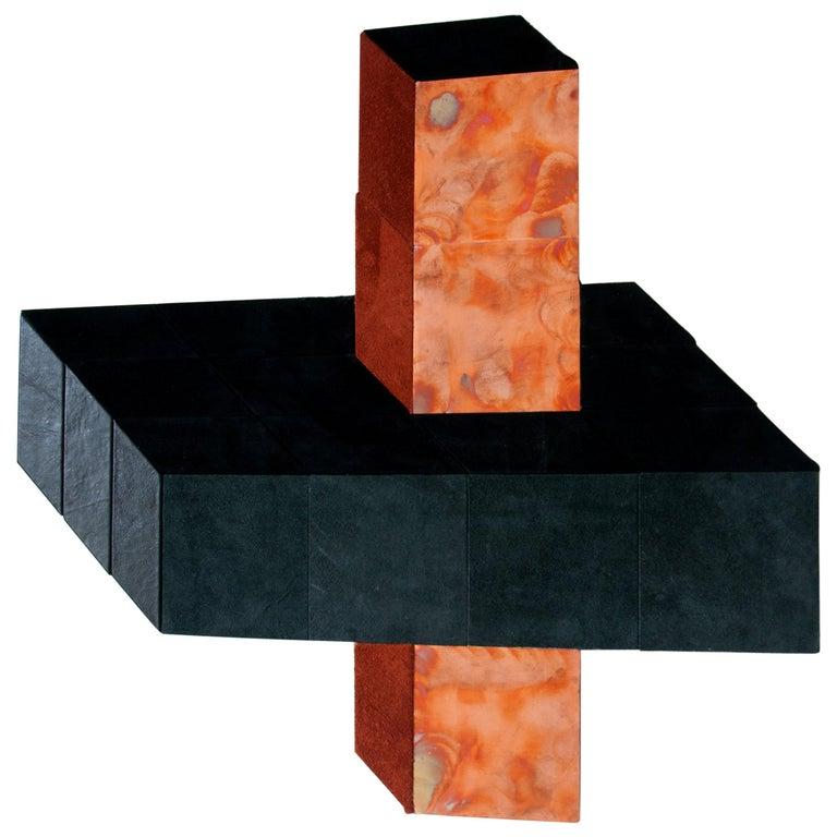 Contemporary visual and haptic wall sculpture artwork by Miriam Loellmann, 2018
