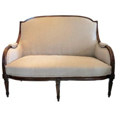 Stunning Antique French Upholstered Loveseat