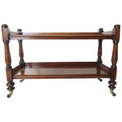 English Regency Mahogany Two-Tier Étagère Trolley, circa 1835