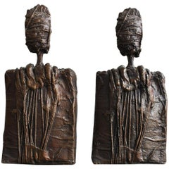 Pair of Anthropomorphous Bronze by Sebastiano Fini