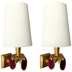 Pair of Bronze Style Sconces by Nicolas Dewael for Fondica, France, 2000
