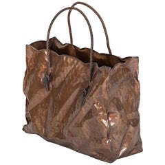 "Italian Midcentury Sculpture ""Shopping Bag"", in the Style of Gio Ponti"