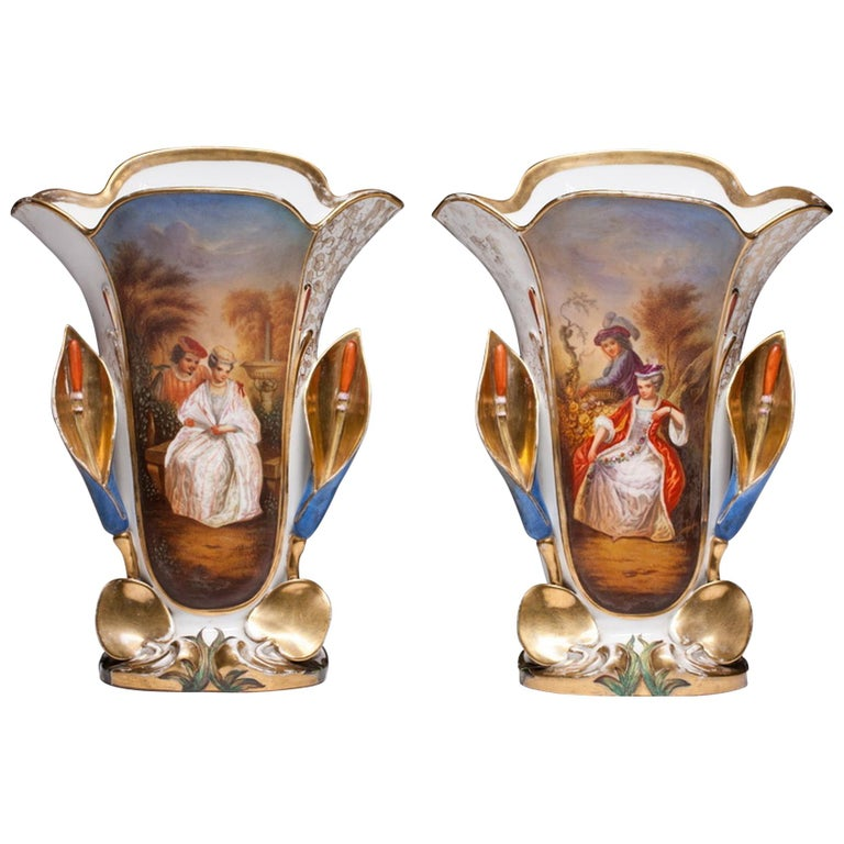 Old Paris Hand Painted Antique Vases For Sale At 1stdibs