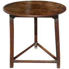 George III Oak Cricket Table