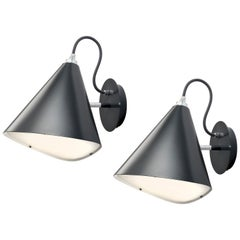 Daniel Becker Emily Wall Light in Matte Black