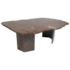 Contemporary Modern Free Form Granite Coffee Table
