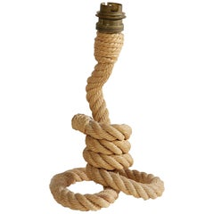 Rope Table Lamp by Audoux Minet