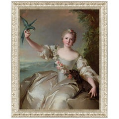 Renee De Carbonnel De Canisy, after French Rococo Oil Painting by Jean Nattier