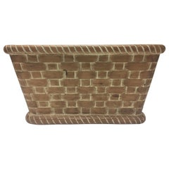 Hand Carved Wall Mounted Wooden Basket