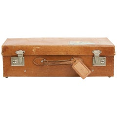 20th Century Spanish Faux Leather Suitcase