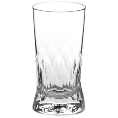 Martino Gamper Handmade Irish Crystal Wine Glass 'Cuttings' Series