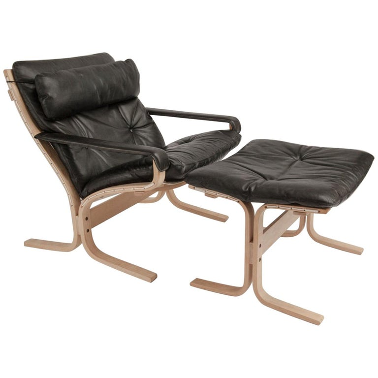 Siesta Chair and Ottoman by Ingmar Relling For Sale