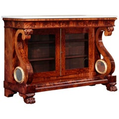 Classical Carved Mahogany Sideboard or Commode
