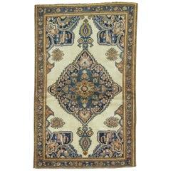 Ivory Persian Throw Rug