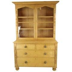 Pine Sideboard, Antique Hutch, Farmhouse Kitchen, 1860, Antique Furniture, B1294