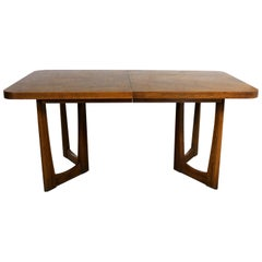 Mid-Century Modern Lane Alta Vista Oak Expanding Dining Table