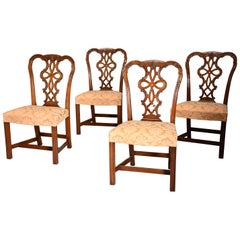 Set of Four Fine Quality Early 20th Century Mahogany Chippendale Style Chairs