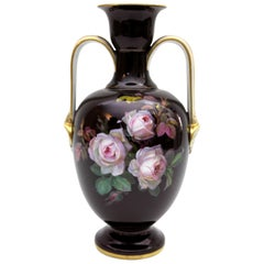 Meissen Porcelain Vase with Braunsdorf Painting