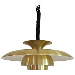 Classic Danish Multi-Layered Brass Pendant Light
